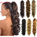 "31"" 210g Claw Hair Tail Ponytail Extension Wavy Curly Style Tress Curly Synthetic Hairpieces for Christmas Party Ponytail Clip"