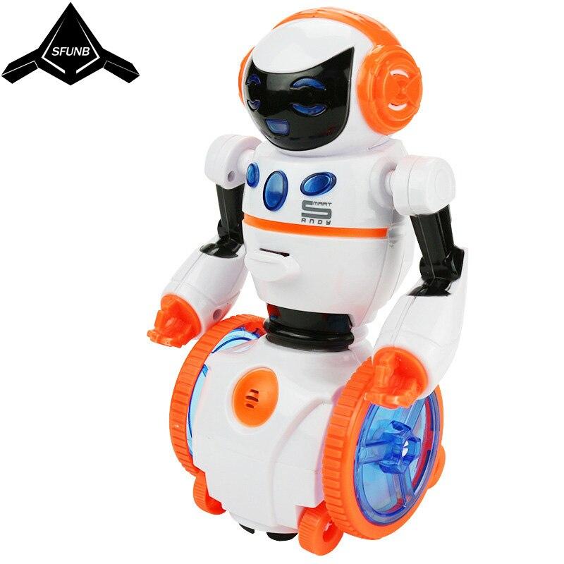 Programmation intelligente lumière led de danse robot humanoïde chant/danse équilibre robot jouet électronique chien