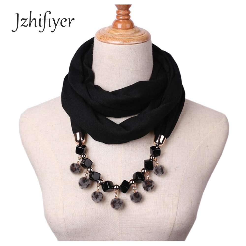spring scarf single jersey cotton pendant Jewelry necklace plain scarf beauty bandana jewellery scarf women hijab loop scarfs in Women 39 s Scarves from Apparel Accessories