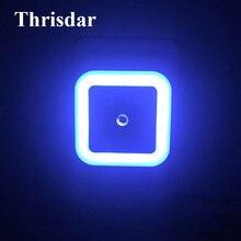 Thrisdar Light Sensor LED Night Light EU&US Plug Socket Wall Lamp Kids Baby Children Gift Bedrom Bedside Emergency Night Light