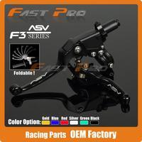 Alloy ASV F3 Series 2ND Clutch Brake Folding Lever Fit Most Motorcycle ATV Dirt Pit Bike