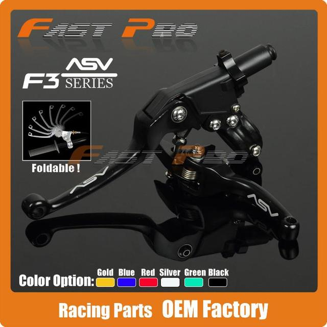 Alloy ASV F3 Series 2ND Clutch Brake Folding Lever Fit Most Motorcycle ATV Dirt Pit Bike Modify parts Spare Parts Free Shipping