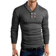 T Shirt Men Brand 2018 Fashion Design Small Lapel Men Tops &Tees T Shirt Men Long Sleeve Slim Male Tops Xxl t shirt men brand 2017 men s fashion heap collar design tops