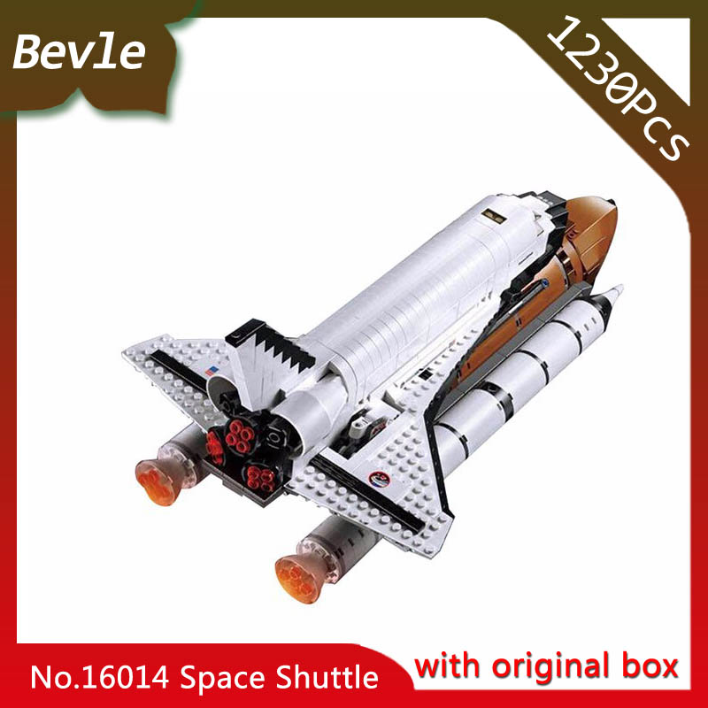 Bevle Store LEPIN 16014 2141Pcs With Original Box Moive Series Space Shuttle Model Building Blocks For Children Toys 10231 lepin 16014 1230pcs space shuttle expedition model building kits set blocks bricks compatible with lego gift kid children toy
