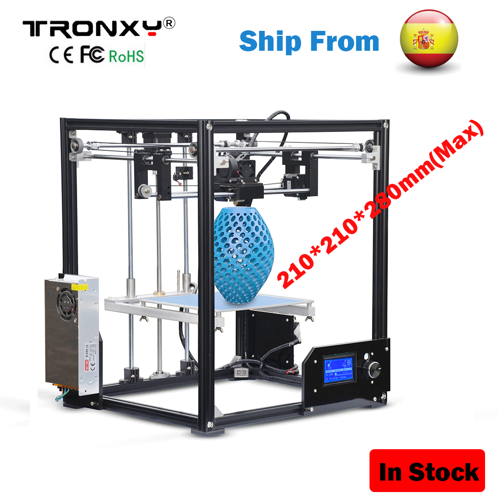 TRONXY 3D Printer Large Printing Size 210*210*280mm High Precision Reprap Aluminum Frame X5 Desktop 3D Printer LCD i3 DIY kit SD anet a2 high precision desktop plus 3d printer lcd screen aluminum alloy frame reprap prusa i3 with 8gb sd card 3d diy printing