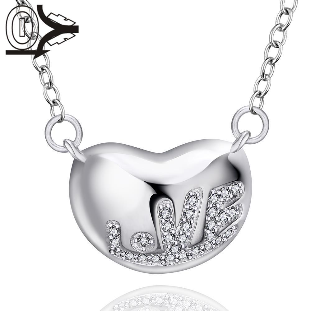 06c4aaeac429 Envío libre! plata al por mayor plateó el collar y el colgante ...