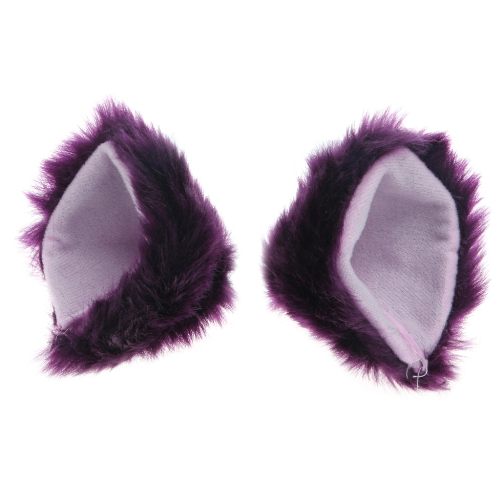 Orecchiette Party's Cat Fox Long Fur Ears Anime Neko Costume Hair Clip Cosplay