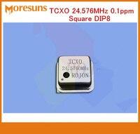 Быстро Бесплатная доставка Звук DIY fihi высокой точности температуры-компенсации термокомплексмый кварцевый генератор TCXO 24,576 МГц 0.1ppm квадра...