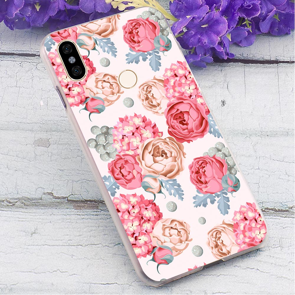 Love rose flower Hard Cover for Redmi 5 Print Phone Case for Xiaomi Redmi Note5 Note6 Note7 Note 5A Prime S2 Cases Back in Fitted Cases from Cellphones Telecommunications