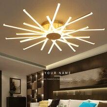 Luces de techo led modernas para sala de estar, dormitorio, comedor, estudio, lámpara de techo de Color Aluminio blanco, accesorios, novedad