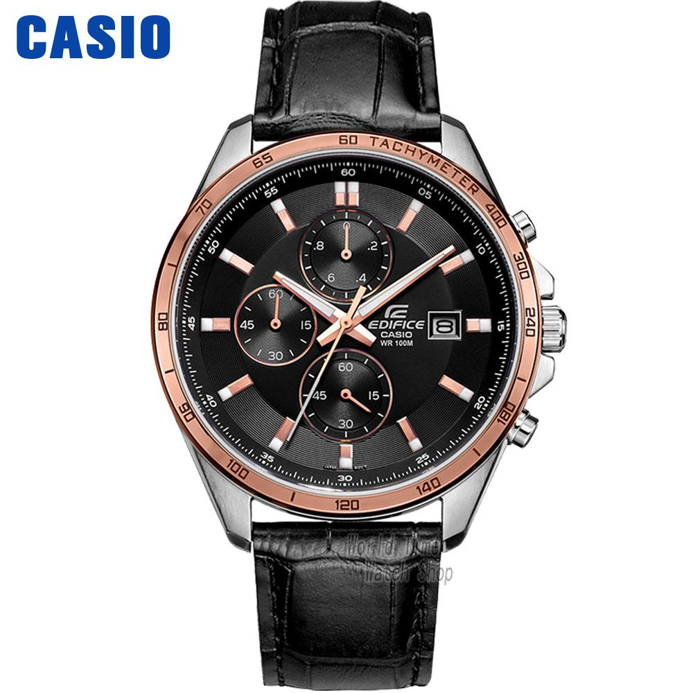 Casio watch Big dial three leather belt fashion male watch EFR-517L-7A EFR-512L-8A EFR-517L-1A EFR-517L-7A casio sheen multi hand shn 3013d 7a