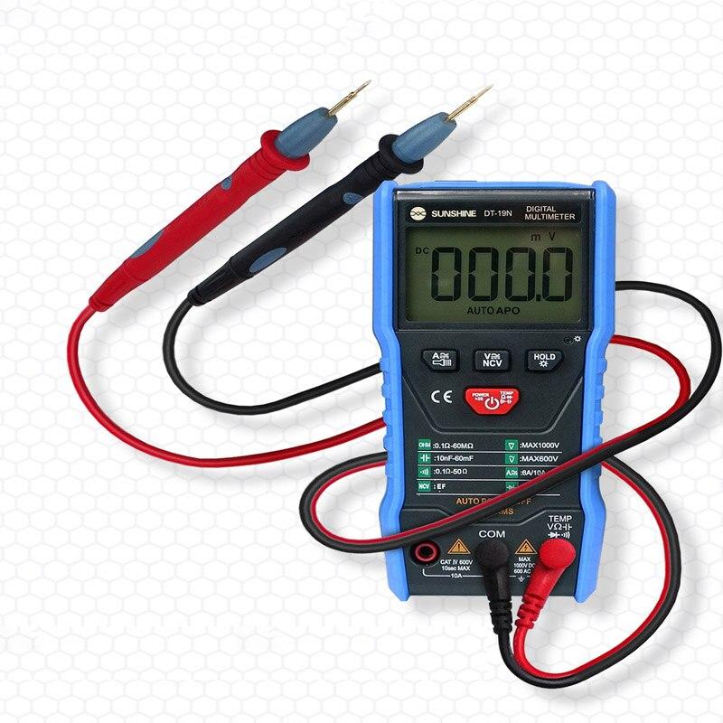 Mini Intelligent Digital Multimeter Temperature Measurement AC DC Resistance Tester for Mobile Phone RepairMini Intelligent Digital Multimeter Temperature Measurement AC DC Resistance Tester for Mobile Phone Repair