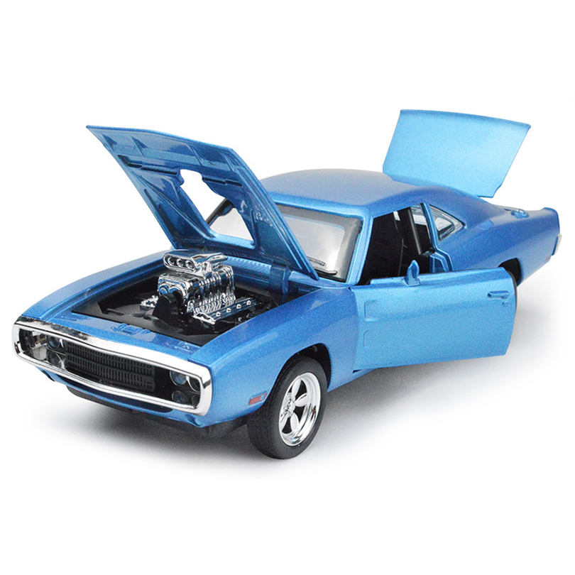 1:32 Charger Toy Vehicles Model Alloy Pull Back Children Toys Genuine License Collection Gift racing bik Acousto-Optic Car Kids