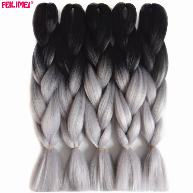 Feilimei Ombre Braiding Hair Extensions Synthetic Twothree Toned