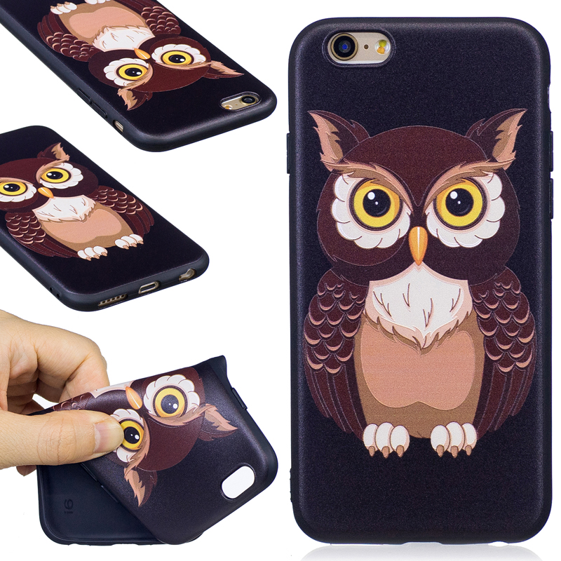 Cute Cartoon Owl Pattern Soft TPU Case For iPhone 5 6 6S 7 8 X Puls Case Cover Phone Bag Protective Shell