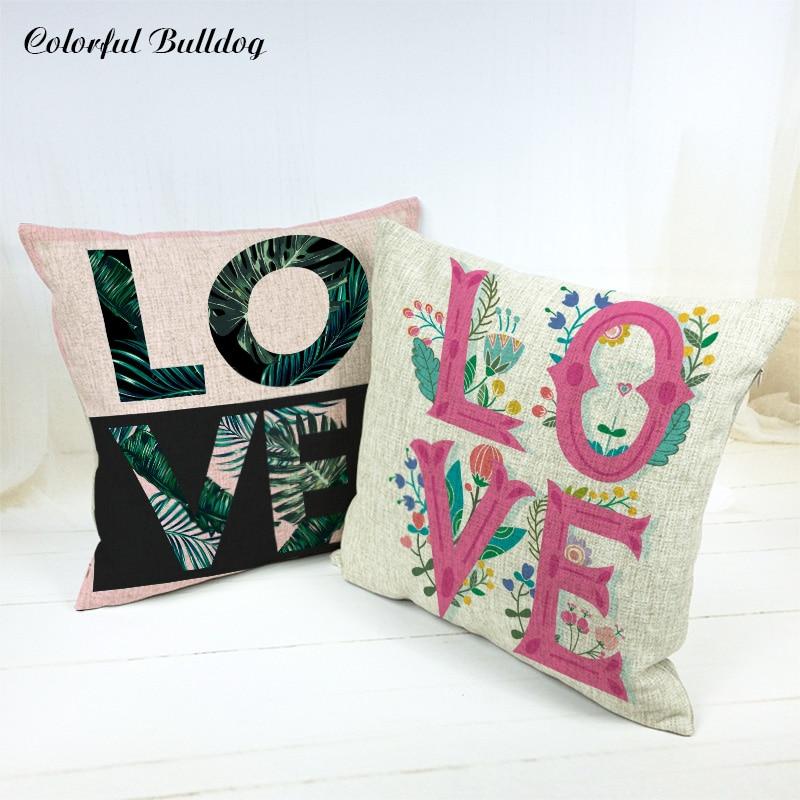 Elegant Keep Calm Series Cushion Cover Cartoon Pillowcase Love London Meditation Large Burlap Lounger Study Reading Cojin Fundas