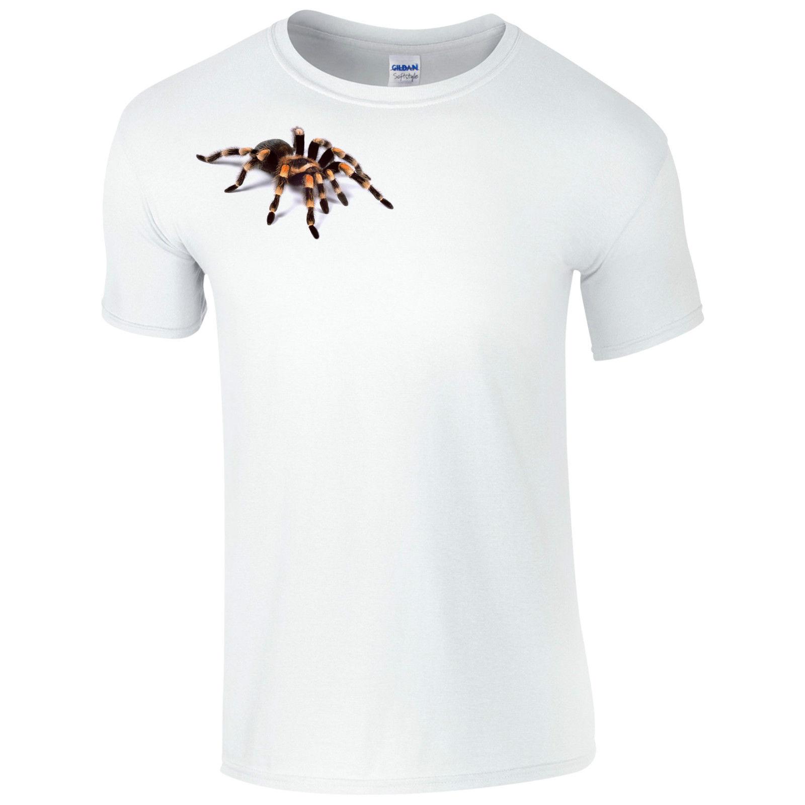 CoöPeratieve Scary Tarantula T-shirt-spooky Spider Joke Halloween 3d Horror Gift Mens Top Cool Casual Trots Tshirt Mannen Unisex Nieuwe Mode Puur Wit En Doorschijnend
