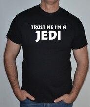 TRUST ME IM A JEDI,STAR WARS,ROGUE ONE,FUN, T-SHIRT Print Tee Men Short Sleeve Clothing free shipping