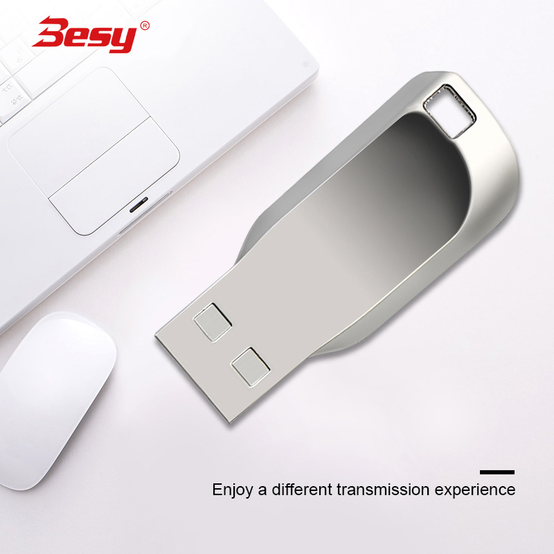 USB Flash Drive Pen 128gb 64G 32G 16G 8G 4G Metal Key chain memory sticks Pen Drive 100% Real capacity mini metal usb(China)