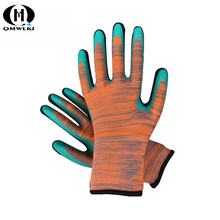 Labor Insurance Gloves Wrinkle Foam Wearable Breathable Comfort Dipped Latex Wrinkle Non-slip Soft Multilayer Latex цена в Москве и Питере