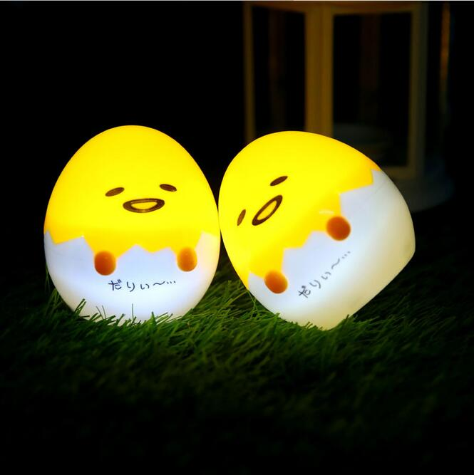 Novelty Egg Smile Face Night Light Childrens Bedroom Nursery Mini Egg Light Emitting Action Toys For Gift Action-047