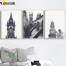 Elizabeth Tower Church Building Modern Wall Art Canvas Painting Nordic Posters and Prints Pictures for Living Room Decor