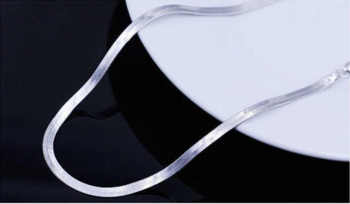 2017 New arrival hot sprzedam mężczyźni biżuteria wąż łańcuch 925 niezawodnego srebra mężczyzna naszyjniki biżuteria prezent urodzinowy drop shipping