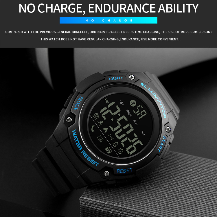 SKMEI 2019 New Bluetooth Sport Smart Watch Men Waterproof Calories Pedometer digital SmartWatch For IOS Android (12)
