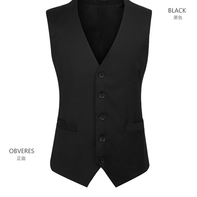 2017 New Arrival Men Suit Vest Formal Slim Fit Suit Waistcoat promotion High Quality Plus Size vest