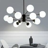 Modern LED Chandelier Novelty Fixtures Restaurant Glass Ball Lamp Nordic Hanging Lights Bedroom Lighting Living Room