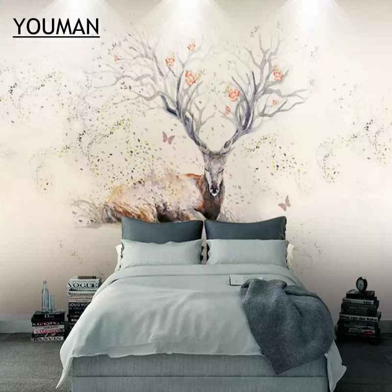 wallpapers youman Custom Desktop Wallpaper 3 d Embossed Animal Wallpapers Wall Mural Living Room Kidroom Photo Wallpaper Elk wallpapers youman custom 3d photo wallpaper mural living room tulip retro brick wall european 3d painting non woven wallpapers