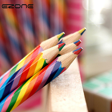 EZONE 4PCS Cute Candy Color Pencil Four Colors Refills Rainbow Pens For Children Painting Drawing Art Tool Studebts Stationery