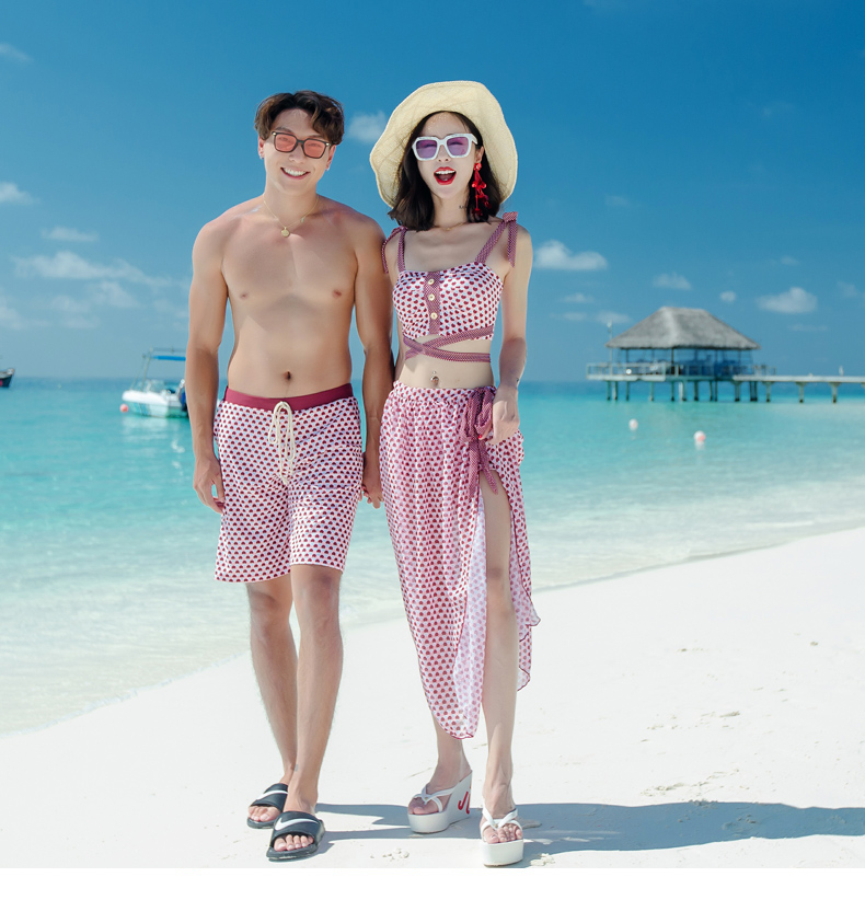 New Men's women   Board     Shorts   Lover   Shorts   Couple Beach Wear Swimsuit Women   Board     Shorts   Bikini Sets Couple Swimwear Sexy Bikinis