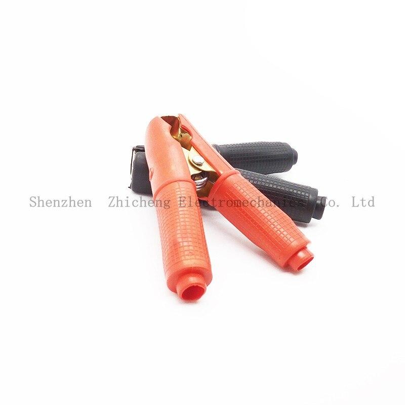 Rojo y negro resistente aislado Conector de Clip Cocodrilo Abrazadera de terminal de la batería