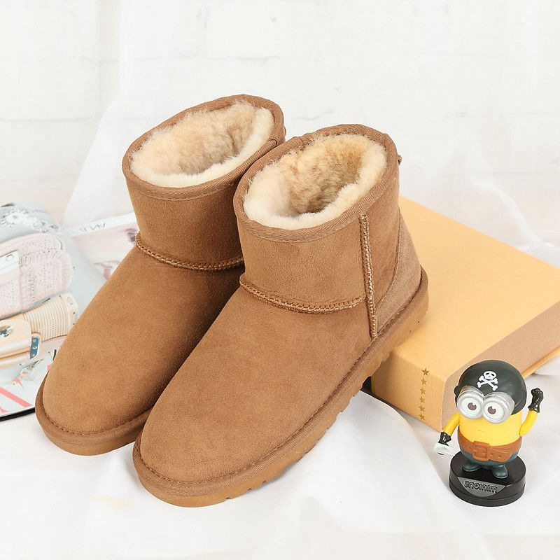 The Boots Winter Of 2017 With The New High Quality 100 Pure Natural Sheep Fur And