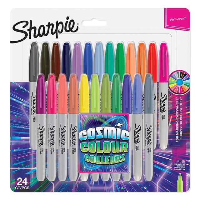 24 Pcs/set New Arrival!!! Sanford Sharpie 31993 Eco friendly Fine Point 1MM Permanent Art Marker Pen