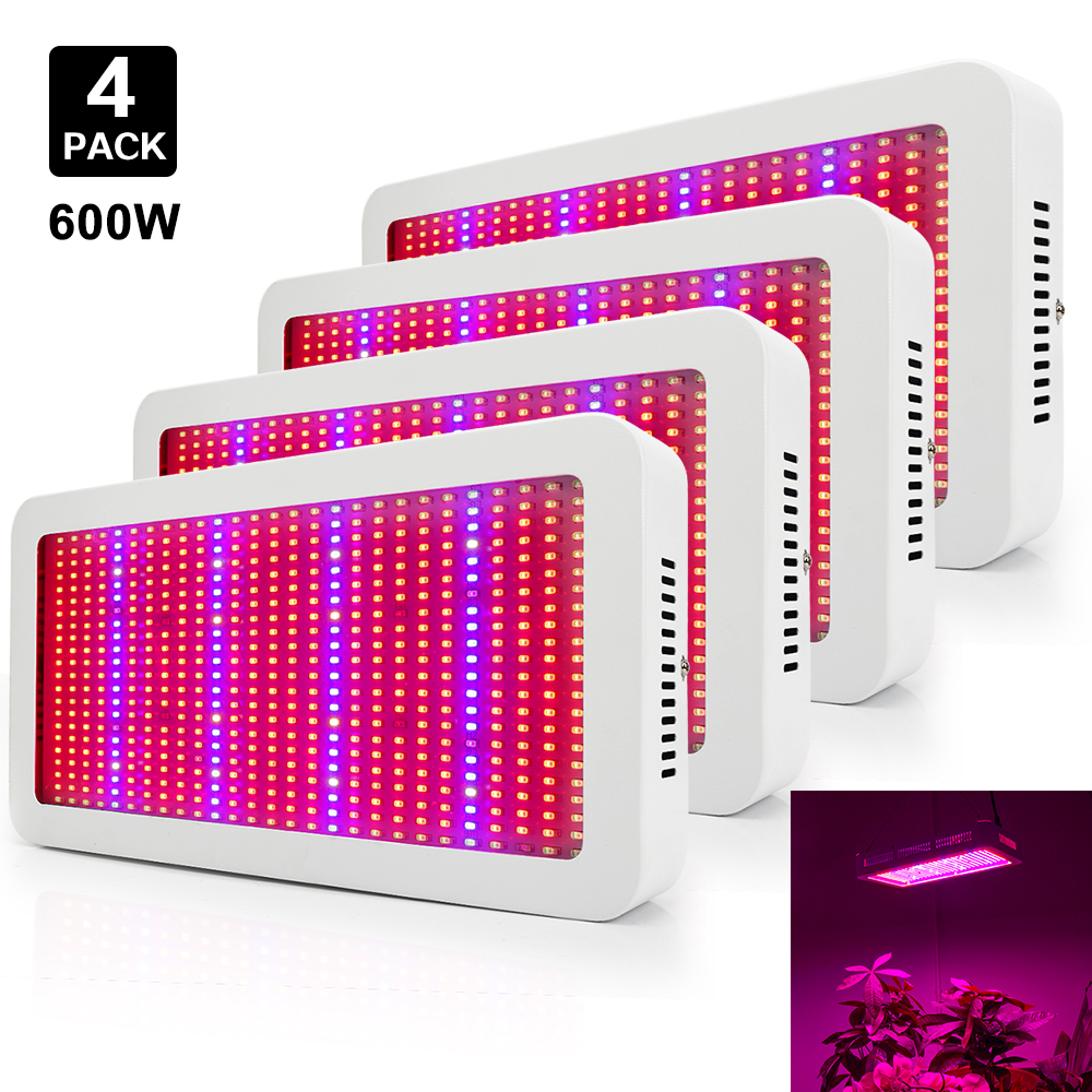 4PCS/lot 600W LED Grow Lights Full Spectrum 410 730nm Growth Lamp For Indoor Plants Flower Greenhouse Hydroponics Grow Tent