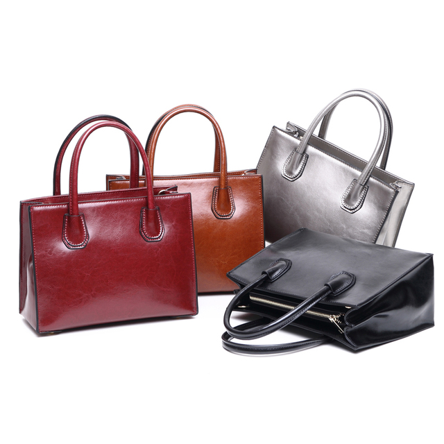 Genuine Leather Bags Ladies Famous Brand Women Handbags High Quality Tote Bag for Women Fashion Satchels Bags