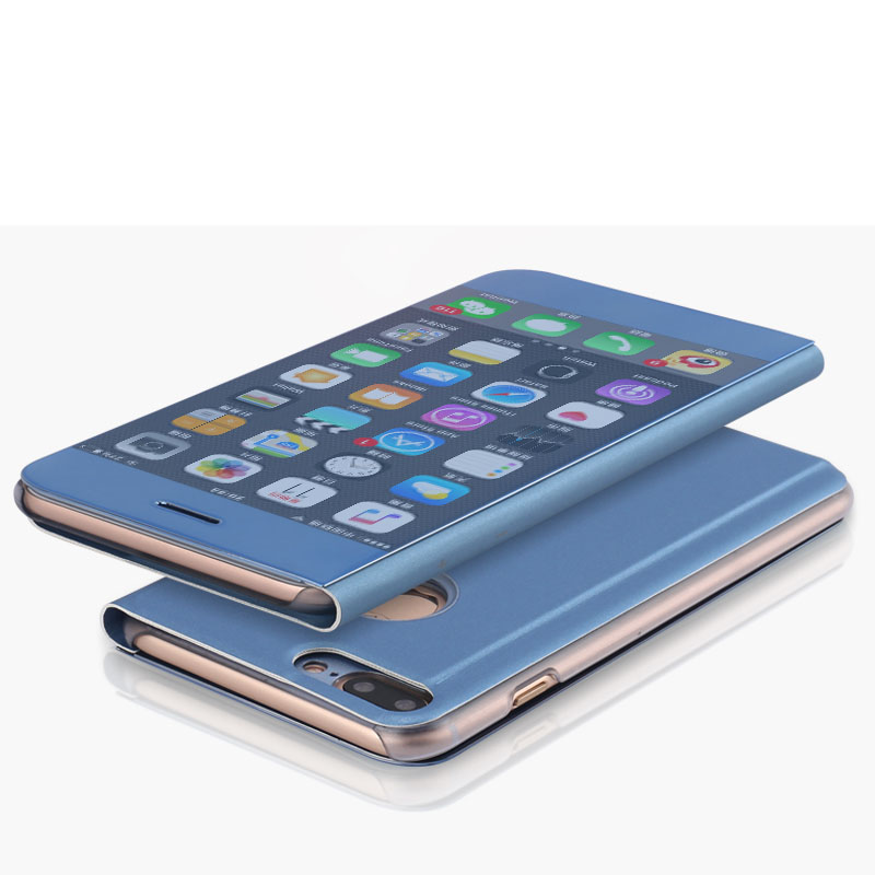 Ultimate Phon Cover Protector For iPhone 7 <font><b>7s</b></font> <font><b>Plus</b></font> Luxury Bling Hard Smart Stand <font><b>Leather</b></font> Flip Mirror <font><b>Phone</b></font> <font><b>Case</b></font> For iPhone 6