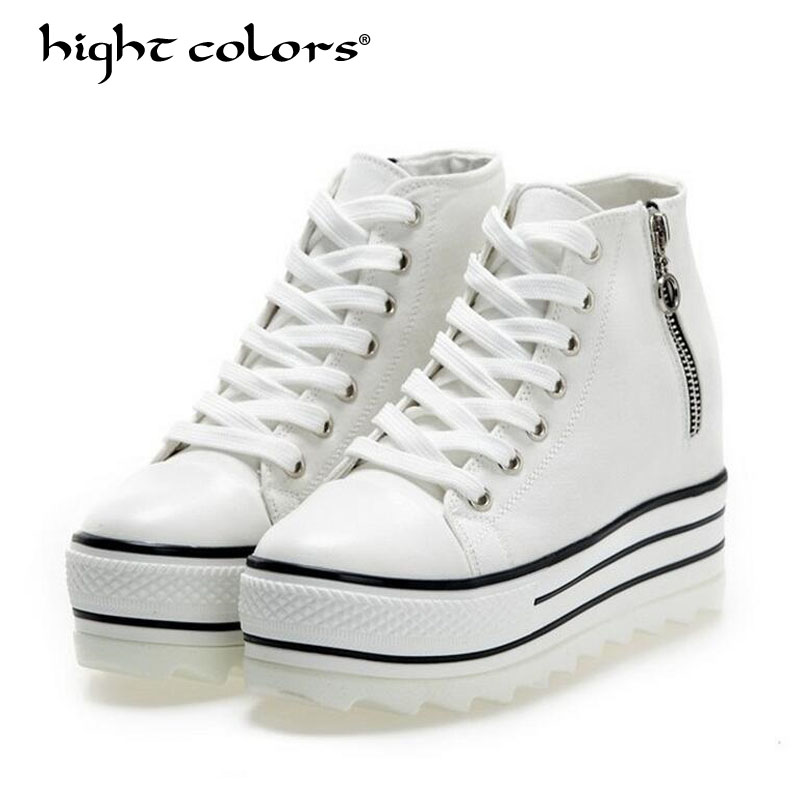 hight colors 2018 New Fashion Women High Top Casual Shoes Women's Denim Ankle Lace Up Ladies Ankle Canvas Shoes Woman Flats H999 renben women canvas shoes 2017 fashion flats women casual white shoes breathable canvas lace up candy colors shoes 6e06