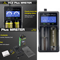 XTAR VC2 Plus Tela Lcd Bateria Inteligente Universal Carregador Rápido para 10440/16340/14500/14650/17670/18350/18500/18650