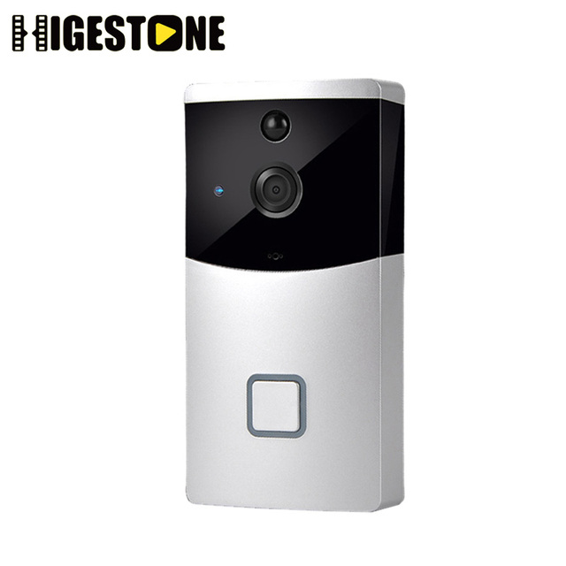 US $41 0 50% OFF|Higestone HD WiFi Smart Video Doorbell Camera Door bell  Two Way Audio Mobile APP Remote Control iOS Android Battery Powered PIR-in
