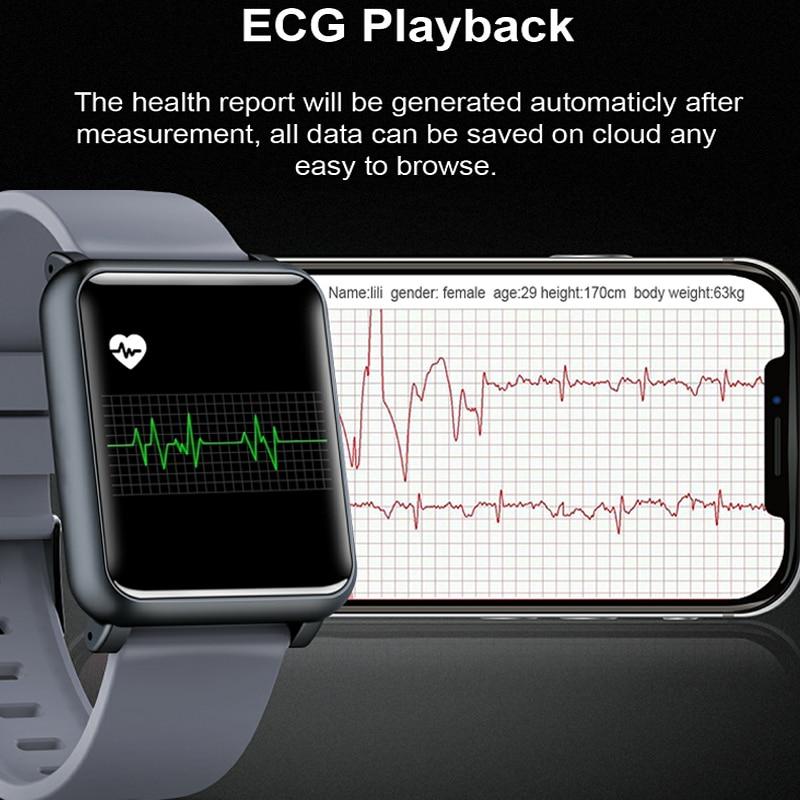 KINYO 2019 nouvelle montre de pression artérielle ecg ppg étanche bracelet intelligent femmes hommes sommeil tracker bracelet intelligent pk z02 montre intelligente - 6