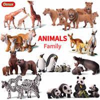 Oenux Original Animal de Simulation de Lion sauvage africain éléphants de tigre figurine d'action Figurines d'animaux de ferme modèle jouets éducatifs