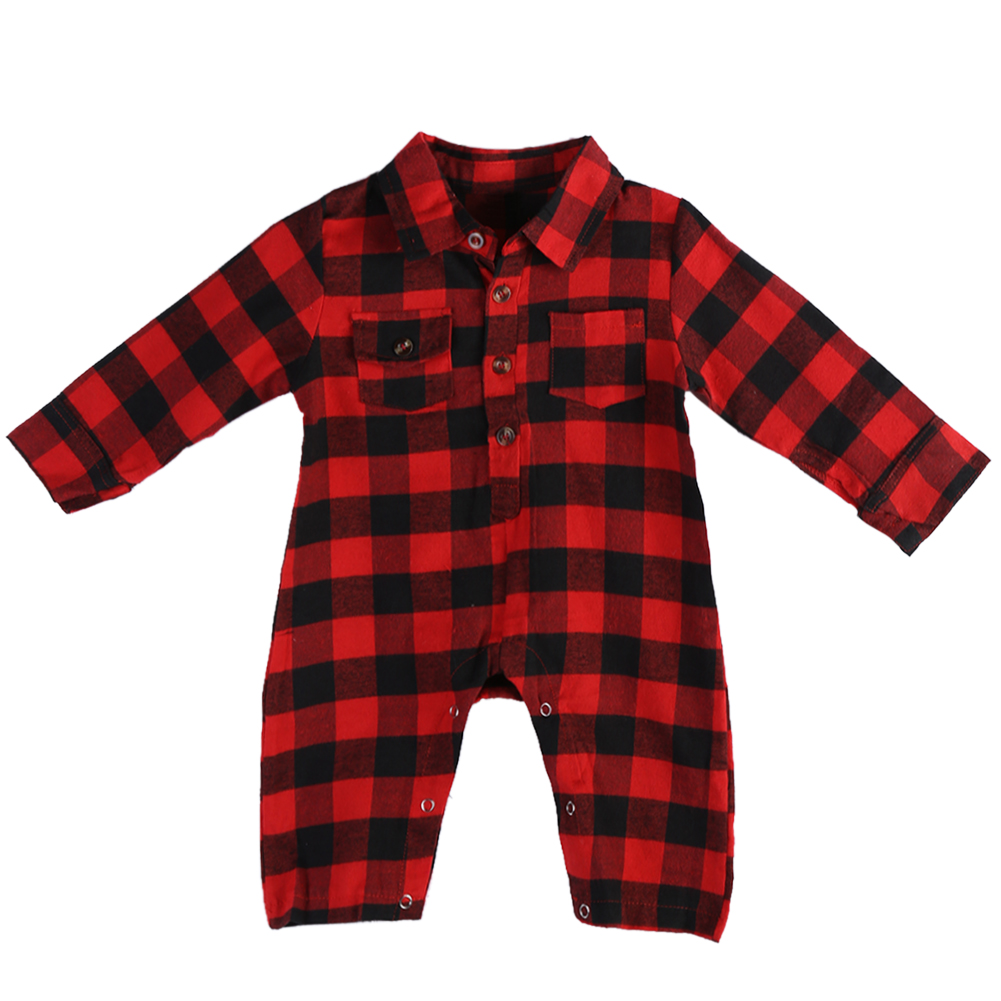 Baby Clothes Red Plaid Blanket Long Sleeve Body Suit Boy Romper Newborn Costume Spring Overall for Children Clothing 0-2Y baby boy clothes kids bodysuit infant coverall newborn romper short sleeve polo shirt cotton children costume outfit suit