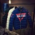 2016 Зимние Куртки Мужские Куртка Печатных Зимой Хлопка-ватник Мужчины Большой Ярдов Толстая Одежда Пальто Стеганые Молодежи мужская Одежда