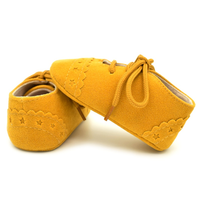 Infant Baby Girls Boys Spring Lace Up Soft Leather Shoes Toddler Sneaker Non-slip Shoes Casual Prewalker Baby Shoes 31