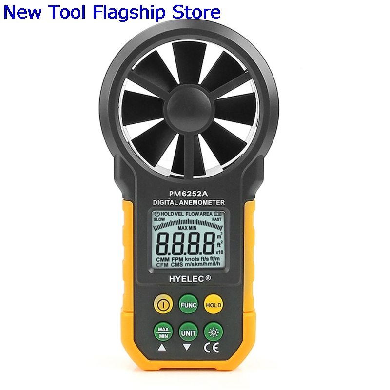 HYELEC MS6252A Digital Air Speed Anemometer / Air Volume / Air Flow Test Meter цены