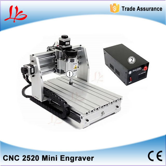 Mini CNC Lathe Woodworking Machine 2520T Mach3 Control for PCB, Stone Cutting