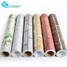 купить Self Adhesive Wall Paper 3D Brick PVC Stone Vinyl Wall Stickers Roll for Walls Papel Pintado Vintage papel de parede tijolo по цене 844.75 рублей